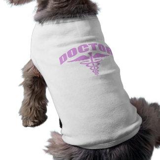 Doctor Caduceus Pink Pet T Shirt