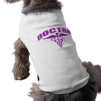 Doctor Caduceus Purple Dog Tee Shirt