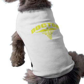 Doctor Caduceus Yellow Pet T Shirt