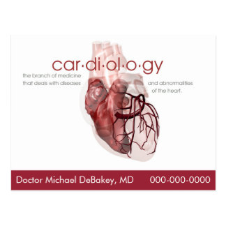 Doctor Cardiology Postcard