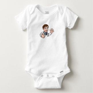 Doctor Cartoon Character Sign Thumbs Up Baby Onesie