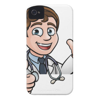 Doctor Cartoon Character Sign Thumbs Up iPhone 4 Cover