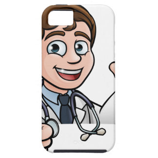 Doctor Cartoon Character Sign Thumbs Up iPhone 5 Cases