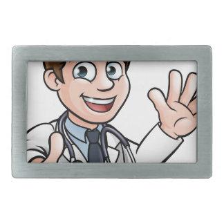 Doctor Cartoon Character Sign Thumbs Up Rectangular Belt Buckles