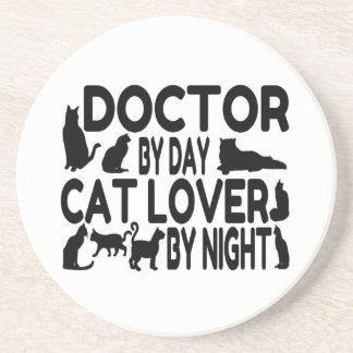 Doctor Cat Lover Beverage Coasters