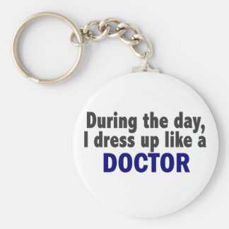 Doctor During The Day Basic Round Button Keychain