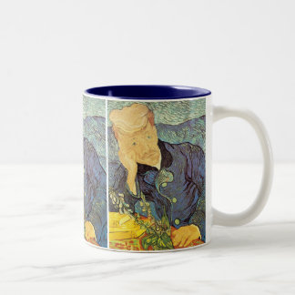 Doctor Gachet Portrait by Vincent van Gogh Two-Tone Coffee Mug