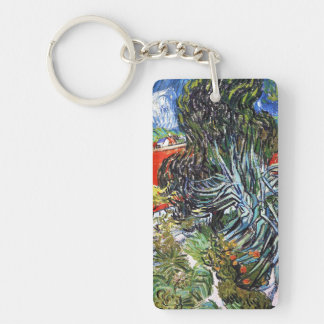 Doctor Gauchet`s Garden in Auvers Vincent van Gogh Double-Sided Rectangular Acrylic Keychain