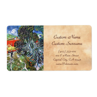 Doctor Gauchet`s Garden in Auvers Vincent van Gogh Shipping Label