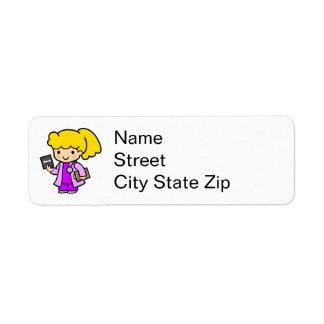 Doctor Girl 2 Return Address Label