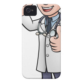 Doctor Giving Thumbs Up Cartoon Character Case-Mate iPhone 4 Cases
