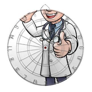 Doctor Giving Thumbs Up Cartoon Character Dartboard