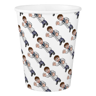Doctor Giving Thumbs Up Cartoon Character Paper Cup