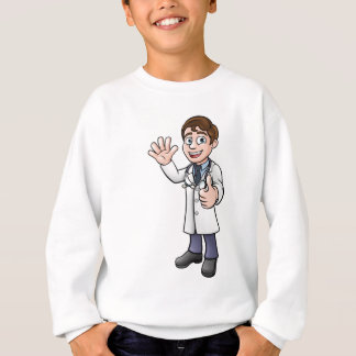 Doctor Giving Thumbs Up Cartoon Character Sweatshirt