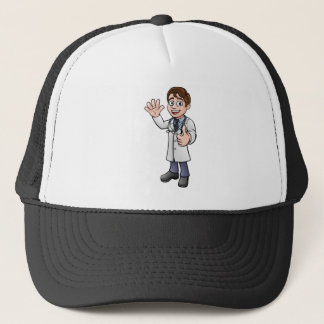 Doctor Giving Thumbs Up Cartoon Character Trucker Hat