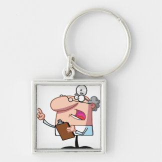 Doctor holding a  clipboard keychain