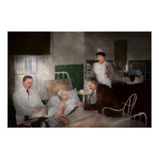 Doctor - Hospital - Bedside manner 1915 Perfect Poster