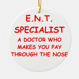 doctor joke ceramic ornament