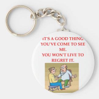 doctor joke keychain