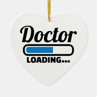Doctor loading ceramic ornament