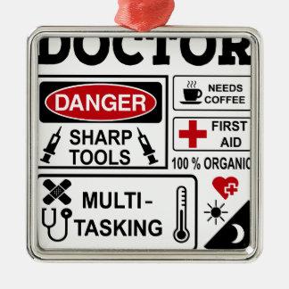 doctor metal ornament