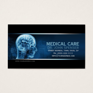 Doctor Of Anatomy Blue Brain Medical Business Card