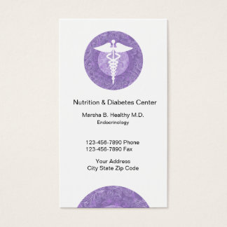 Doctor Of Endocrinology And Nutrition Business Card