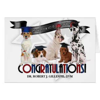 Doctor of Veterinary Medicine Graduate Custom Dogs Card