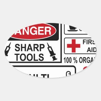 doctor oval sticker