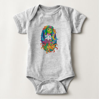 Doctor - Princess - Mermaid in Glasses :) Baby Bodysuit