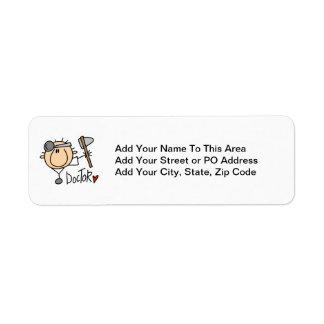 Doctor Return Address Label