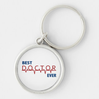 Doctor Silver-Colored Round Keychain