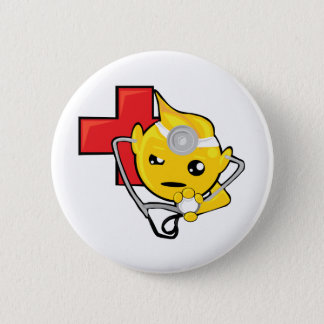 doctor smiley face 2 inch round button