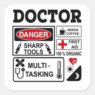 doctor square sticker