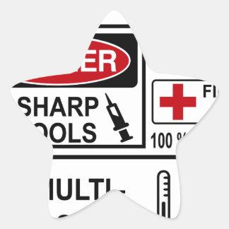 doctor star sticker