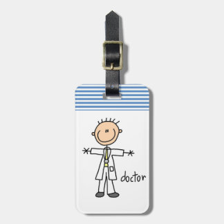 Doctor Stick Figure Luggage Tag