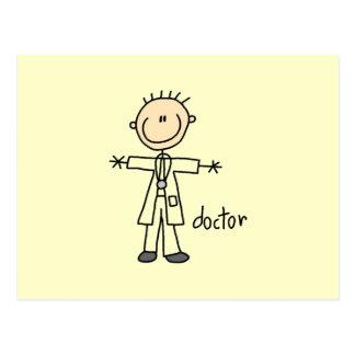 Doctor Stick Figure Postcard