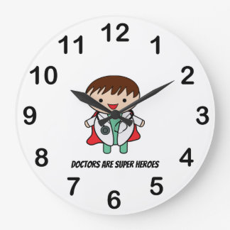 Doctor Super Hero National Doctors Day Personalize Large Clock