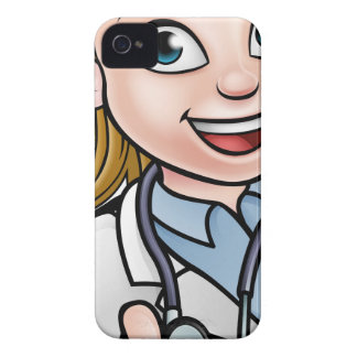 Doctor Thumbs Up Cartoon Character Sign iPhone 4 Cases