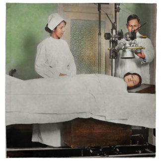 Doctor - Xray - Getting my head examined 1920 Napkin