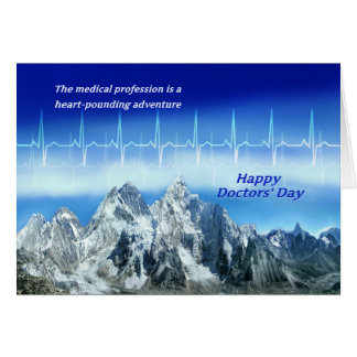 Doctor's Day Card-Happy Doctor's Day Heartbeat Card