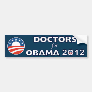 Doctors For Obama 2012 Bumper Sticker
