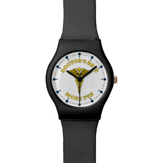 Doctor's Have More Fun Caduseus Watch