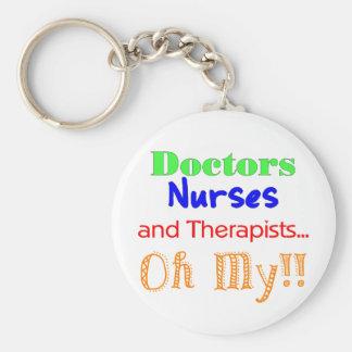 Doctors, Nurses, & Therapists Basic Round Button Keychain