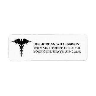 Doctor's Office Return Address Label Simple Custom
