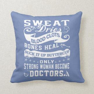 Doctors Woman Throw Pillow