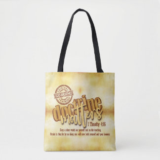 """Doctrine Matters"" All-Over-Print Tote (Medium)"