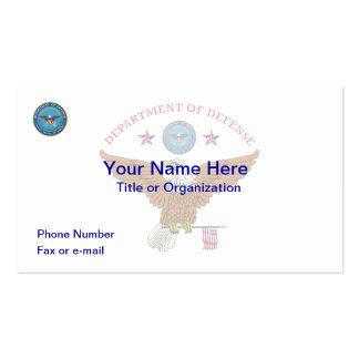 DOD Eagle Flag Business Card