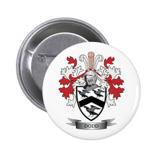 Dodd Family Crest Coat of Arms 2 Inch Round Button