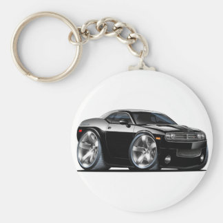 Dodge Challenger Black Car Keychain